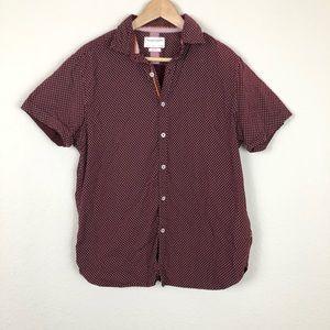 Denim & Flower Button Down Shirt Sz L
